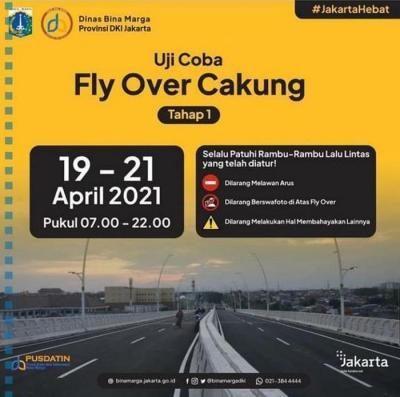 Besok, Fly Over Cakung Bakal Diuji Coba