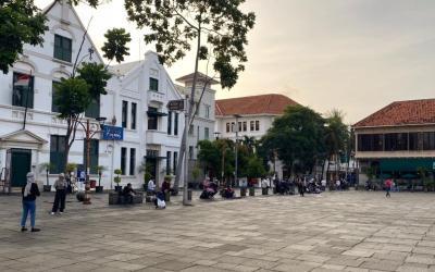 Ngabuburit di Kota Tua Jakarta, Sepi Loh Bisa Jaga Jarak