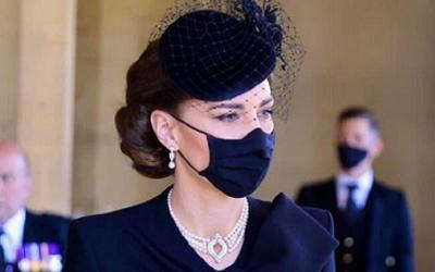 Makna di Balik Kalung Mutiara Kate Middleton di Pemakaman Pangeran Philip