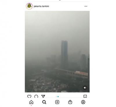 Polusi Udara Kembali Hinggapi Langit Jakarta