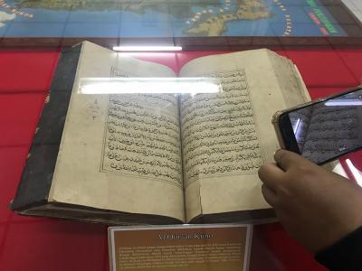 Melihat Alquran Tulisan Tangan Peninggalan Kesultanan Palembang di Museum Subkoss