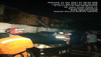 Kebakaran Bangunan Semi Permanen di Menteng Jakarta Pusat, 2 Orang Jadi Korban