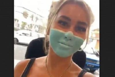 Viral Bule Lukis Masker di Wajah demi Kelabui Satpam, Netizen: Tangkap Orang Ini