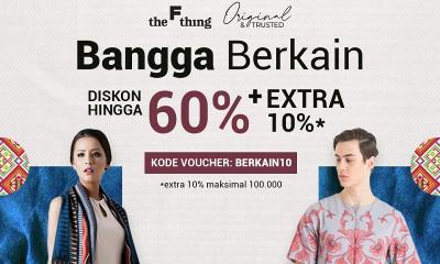"Ini Deretan Brand Kain Etnik Nusantara, Dapatkan Promo Diskon 60% ""Bangga Berkain"" The F Thing"