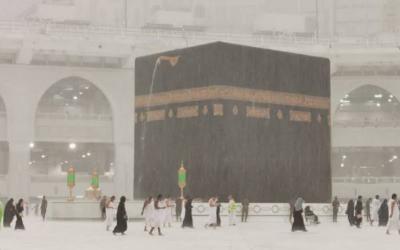 Diguyur Hujan 3 Jam, Kota Makkah Dilanda Banjir