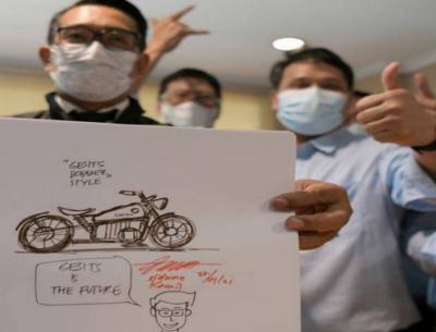Keren, Ridwan Kamil Siapkan Rancangan Motor Listrik Bergaya Bobber