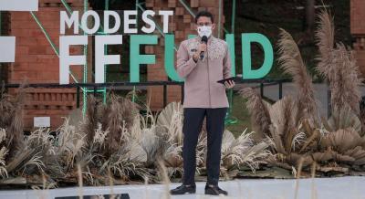 Hadiri Acara Modest Fashion Founders Fund 2021, Sandiaga Uno Terlihat Lebih Langsing
