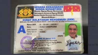 Berlaku Internasional, Ini Penampakan SIM Negara Kekaisaran Sunda Nusantara