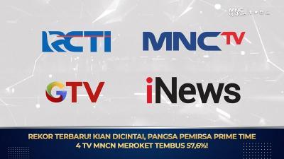 Makin Dicintai, Pangsa Pemirsa Prime Time 4 TV MNCN Tembus 57,6%!