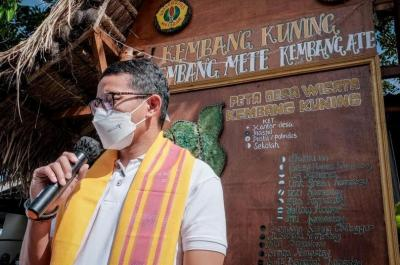 Sandiaga Uno Puji Penerapan Prokes di Desa Wisata Kembang Kuning Lombok