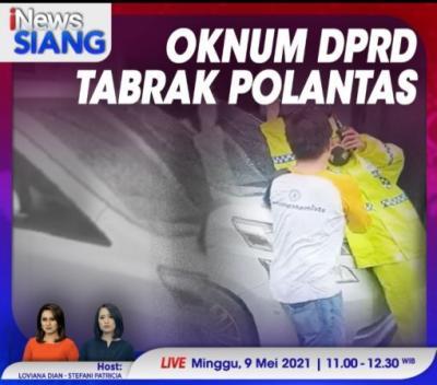 Tak Terima Ditegur, Anggota DPRD Tabrak Polisi. Saksikan Selengkapnya di iNews Siang Pukul 11.00 WIB