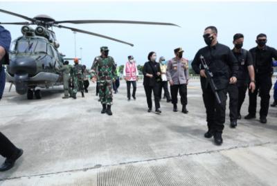 Panglima TNI dan Sejumlah Pejabat Negara Tinjau Lokasi Penyekatan Mudik 2021