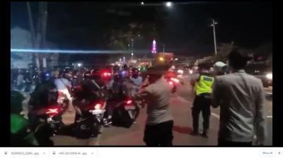 Ribuan Pemotor Lawan Arus, Polisi Peringatkan Pengendara Diduga Provokator