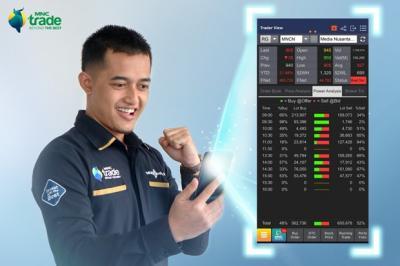 "Analisis & Transaksi Saham Kian Mudah, Fitur Trader View Kini Hadir di Aplikasi ""MNC Trade New"""