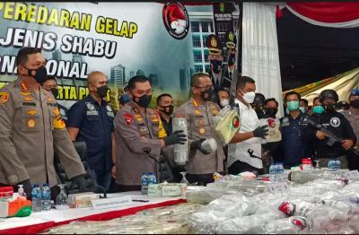 Polisi Bongkar Kasus Peredaran Gelap 310 Kg Sabu Jaringan Internasional