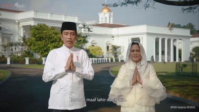 Ucapkan Hari Raya Idul Fitri, Presiden Jokowi: Momentum Bangkit dan Menang Lawan Covid-19