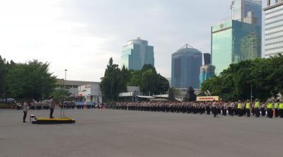 Polda Metro dan Kodam Jaya Gelar Apel Patroli Skala Besar Pengamanan Malam Takbiran