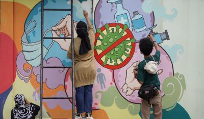 Tak hanya Indah Dipandang, Mural Sisipkan Pesan Kemanusiaan