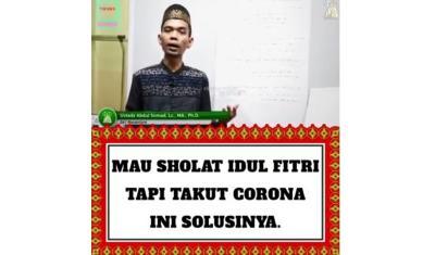 Sholat Idul Fitri di Rumah, Ini Panduan dari Ustaz Abdul Somad