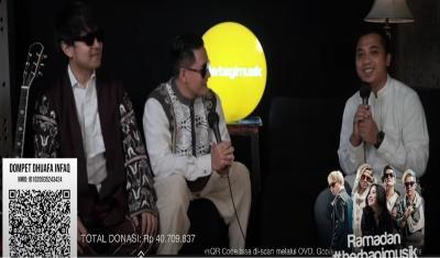 Ramadan Berbagi Musik Dompet Dhuafa Bersama J Rock dan Sederet Musisi Berhasil Kumpulkan Donasi Sebanyak Rp300 Juta Lebih