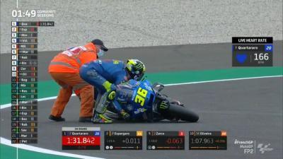 Korban Berjatuhan, Sejumlah Pembalap Alami Kecelakaan di FP2 MotoGP Prancis 2021
