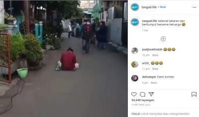 Viral Tertidur hingga Sholat Idul Fitri Bubar, Netizen: Itu Orang Ngambek Apa?