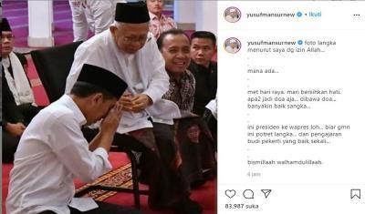 Jokowi Sungkem kepada Ma'ruf Amin, Yusuf Mansur: Foto Langka