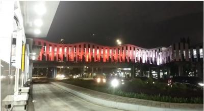 Foto-Foto Indahnya Lampu Warna-Warni Ibu Kota Jakarta Malam Ini
