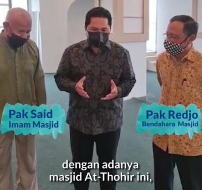 Erick Thohir Ingin Masjid At Thohir di LA Jadi Tempat Diskusi Diaspora hingga Ekonomi