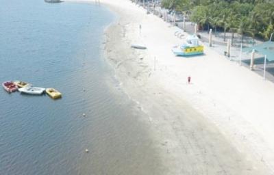 Libur Lebaran ke-4, Bersihnya Pantai Ancol saat Bebas Pengunjung