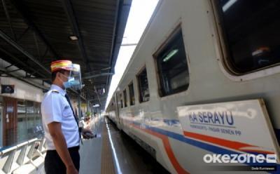 Larangan Mudik, Penumpang Kereta Turun 83%
