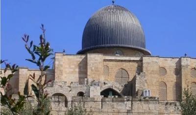 Kubah Masjid Al-Aqsa di Palestina itu Berwarna Biru, Bukan Berwarna Kuning Emas