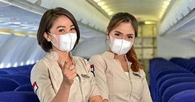 Gaya Milenial Pramugari Super Air Jet, Bikin Netizen Tergoda