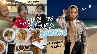 Intip Keseruan Xaviera Putri Liburan di Sokcho, Cicipi Aneka Jajanan Korea