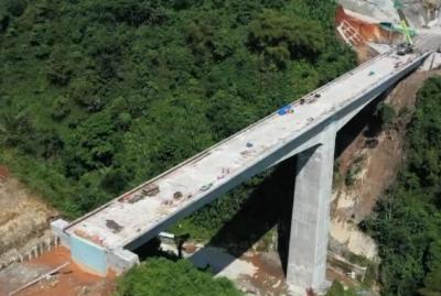 Penampakan Jembatan Tertinggi Proyek Kereta Cepat Jakarta-Bandung