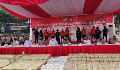 Penyelundupan 1,129 Ton Sabu Diungkap, Ini Beberapa Kasus Narkoba Terbesar di Indonesia