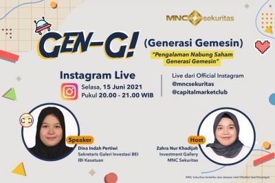 Milenial Belajar Nabung Saham Yuk! Pantau IG Live MNC Sekuritas Pukul 20.00 WIB