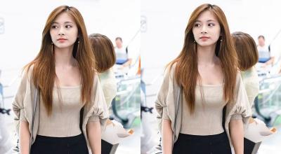 5 Gaya Airport Fashion Tzuyu TWICE, Cantiknya Bikin Mata Susah Berpaling!