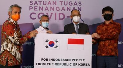Indonesia Terima Bantuan Penanganan Covid-19 dari Korsel Senilai 3,5 Juta USD