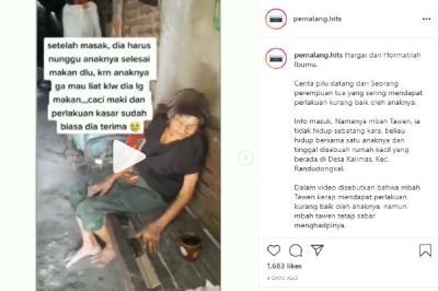 Viral Kisah Durhaka Anak, Paksa Ibunya Keluar karena Jijik Lihat Ia Makan
