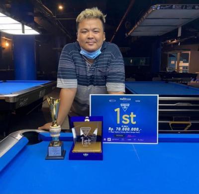 Rizky dari Jambi dan Bobby dari Bandung Juara Turnamen Biliar Open Handicap 2021 Bandung