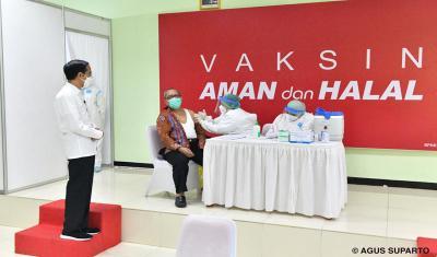 Jokowi Dijadwalkan Tinjau Vaksinasi Covid-19 di Stasiun Bogor dan Stadion Pekansari