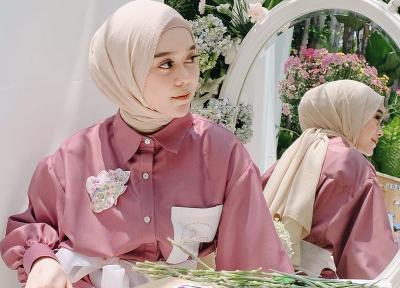 Glamornya Gaya Lesti Kejora dengan Dress Biru Rp11 Juta