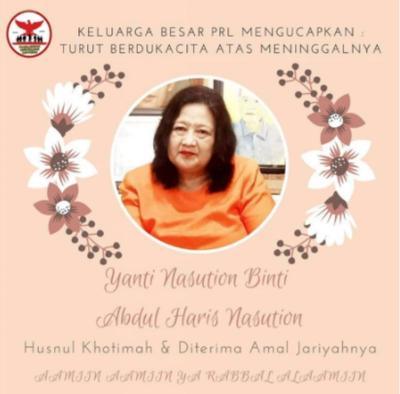 Kabar Duka, Yanti Nasution Putri Sulung Jenderal  Purn  AH Nasution Meninggal Dunia