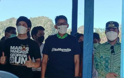 Ajak Atta Halilintar, Sandiaga Uno Dorong Maros Kembangkan Desa Wisata