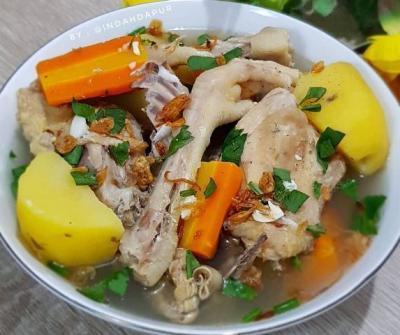 Gurihnya Sup Ayam Kampung, Cocok Disantap saat Cuaca Dingin