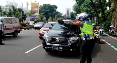 Begini Suasana Hari Pertama Penerapan Ganjil-Genap di Bogor