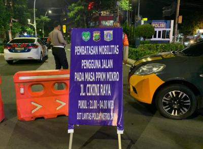 Penyekatan Mobilitas Jalanan, Jalan Cikini Raya Ditutup