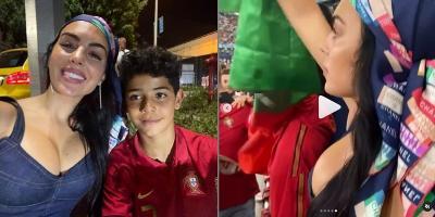 4 Potret Seksi Georgina Rodriguez Dukung Ronaldo Saksikan Portugal Vs Prancis