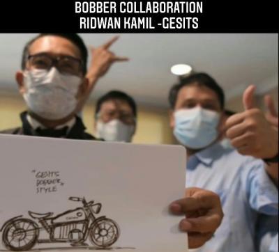 Ridwan Kamil Rancang Motor Listrik Bobber Style, Begini Hasilnya